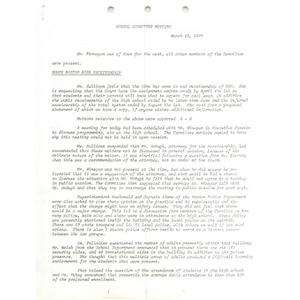 School Committee meeting March 22, 1977.