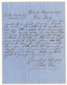 Letter by Solomon Davis from Richmond to Ziba Oakes