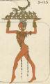 Costume design drawing, serving girl costume, Las Vegas, June 5, 1980
