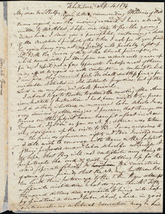 Letter from Beriah Green, Whitesboro, to Amos Augustus Phelps, Sept. 4. 1834