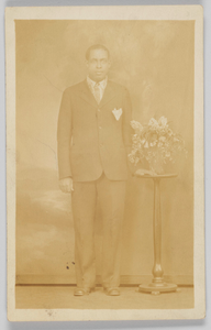 Photographic postcard of a man
