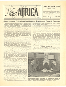 New Africa volume 6, number 4