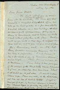 Letter from Samuel May, Boston, to Richard Davis Webb, May 29, 1860