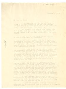Letter from John Chase to W. E. B. Du Bois