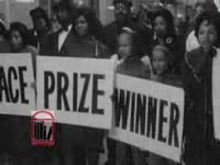 WSB-TV newsfilm clip of Dr. Martin Luther King, Jr. commenting on the continued segregation of the Lovett School as well as his return from the Nobel Peace Prize trip, Atlanta, Georgia, 1964 December and 1966 June