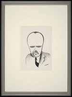 Caricature of James Weldon Johnson