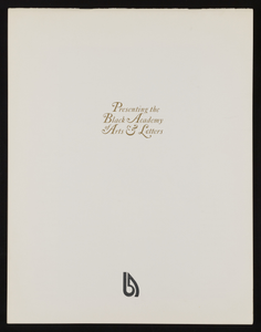 Black Academy of Arts and Letters, Printed Material
