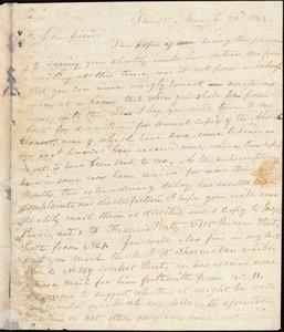 Thumbnail for Letter from Joseph Cassey, Philad[elphi]a, [Pennsylvania], to William Lloyd Garrison, 1833 March 23d