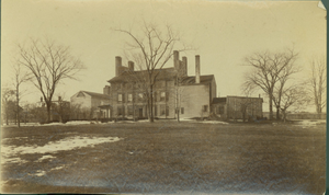 Exterior view of the east facade, Royall House, Medford, Mass., undated