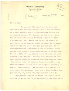 Letter from W. E. B. Du Bois to John Hope