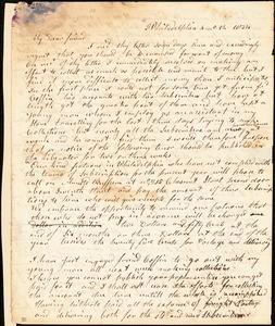 Thumbnail for Letter from Arnold Buffum, Philadelphia, [Pennsylvania], to William Lloyd Garrison, 1834 [April] 12