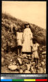 Missionary and two girls, India, ca.1920-1940