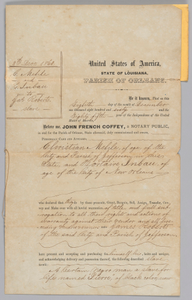 Deed of sale for an enslaved man named Pierre