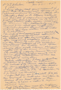 Letter from C. F. Maxwell to W. E. B. Du Bois