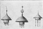 Evolution of the Negro home; Corn warehouses, Niam-Niam [Schweinfurth]