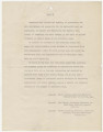 Letter from Pioneer Youth of America in New York, New York, to Governor B. M. Miller in Birmingham, Alabama.