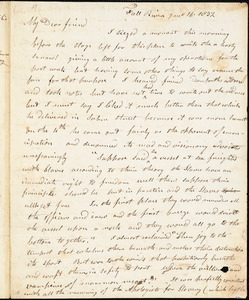 Letter from Arnold Buffum, Fall River, [Massachusetts], to William Lloyd Garrison, 1832 [July] 16