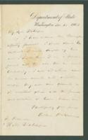 Letter from William Henry Seward to Richard M. Blatchford