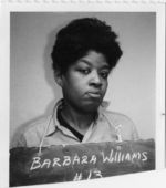 Mississippi State Sovereignty Commission photograph of Barbara Williams taken at the time of her arrest in Grenada, Mississippi, 1966 October 26
