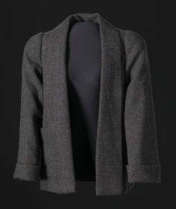 Grey jacket designed by Arthur McGee