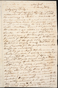 Letter from George Bourne, New York, [New York], to William Lloyd Garrison, 1839 March 2