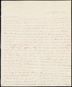 Letter from Sylvia Ann Ammidon, Groton, [Mass.], to Deborah Weston, August 3rd, 1833