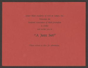Invitation: A Jazz Set A Jazz Set