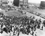 Photograph of a massive crowd of silent marchers, Nashville, Tennessee, 1960 April 19