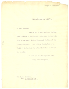 Letter from W. E. B. Du Bois to L. M. Hershaw