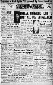 Memphis World, 1956 April 27th