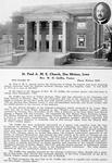 St. Paul A.M.E. Church, Des Moines, Iowa; Rev. W. H. Griffin, Pastor; 1213 Crocker St.; Phone Walnut 7278