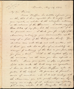 Letter from William Lloyd Garrison, Boston, [Mass.], to Henry Egbert Benson, May 31, 1832