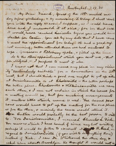 Letter from Charles Calistus Burleigh, Pawtucket, [Rhode Island], to Samuel May, [18]50 [July] 14