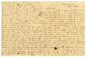 [Letter from David Fentress to his wife Clara, March 29, 1863] The David W. Fentress Family Letters, 1856-1969