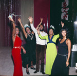 Gwen Gordy, Iris Gordy, and Berry Gordy at a New Year's Eve party, Los Angeles