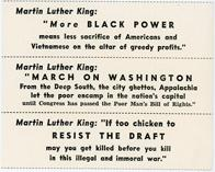 "Night Raiders--Martin Luther King: ""More Black Power Means Less Sacrifice of Americans And Vietnamese On The Altar Of Greedy Profits."""