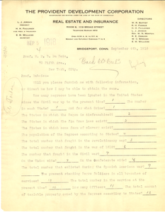 Letter from W. E. B. Du Bois to Lucius J. Jordan