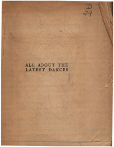 All About the latest Dances: A Critcal & Practical Treatise