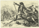 The shooting of Major Pitcairn (who had shed the first blood at Lexington) by the colored soldier Salem