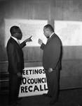 Examination of map, Los Angeles, 1962