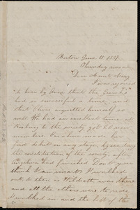 Letter from Deborah Weston, Boston, [Mass.], to Mary Weston, June 15, 1837, Thursday noon