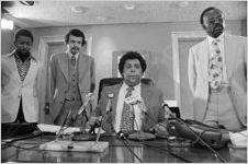 Maynard Jackson, Aaron Turpeau, and Davey Gibson, circa 1974