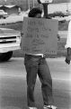 Woman participating in a march from Decatur to Cullman, Alabama, to protest the upcoming trial of Tommy Lee Hines.