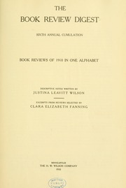 Book review digest, 1910 v.6