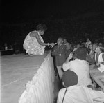 Diana Ross pausing during a performance, Los Angeles, 1969