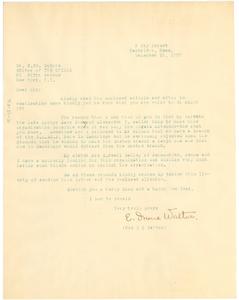 Letter from Mrs. J. S. Walton to W. E. B. Du Bois