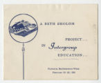 Beth Sholom Project in Intergroup Education