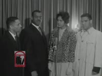 Series of WSB-TV newsfilm clips of African American lawyers commenting on the University of Georgia's integration, students' replies to a reporter's questions, and African American students at the University of Georgia in Athens, Georgia, 1961 January 9