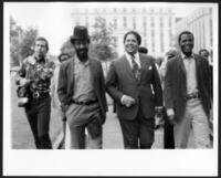 Bill Cosby, Maynard Jackson, and Sidney Poitier, circa 1975