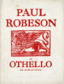 Paul Robeson as Othello, the Moor of Venice. The Theatre Guild.